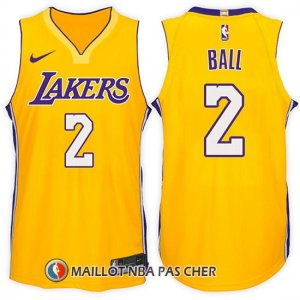 Maillot Los Angeles Lakers Lonzo Ball 2 2017-18 Jaune