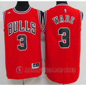 Maillot Chicago Bulls Wade 3# Rouge