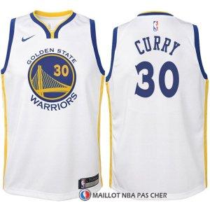 Maillot Authentique Enfant Golden State Warriors Curry 2017-18 30 Blanc