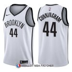 Maillot Brooklyn Nets Dante Cunningham Association 44 2017-18 Blanc