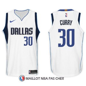 Maillot Dallas Mavericks Seth Curry 30 2017-18 Blanc