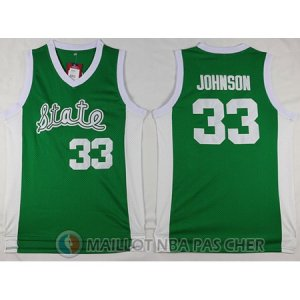 Maillot NBA NCAA Michigan Johnson 33# vert