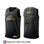 Maillot Golden Edition Los Angeles Lakers Lebron James Noir