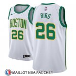 Maillot Boston Celtics Jabari Bird No 26 Ciudad 2018-19 Blanc
