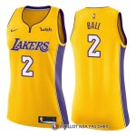 Maillot Femme Los Angeles Lakers Lonzo Ball Icon 2017-18 2 Jaune