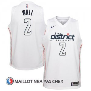 Maillot Washington Wizards Wall 2 Ciudad 2017-18 Blanc