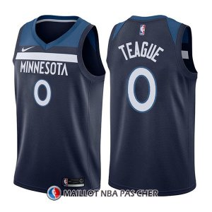 Maillot Minnesota Timberwolves Jeff Teague Icon 0 2017-18 Bleu