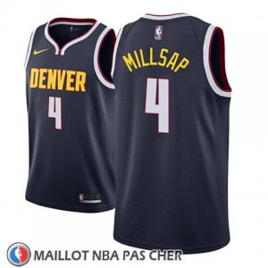 Maillot Denver Nuggets Paul Millsap No 4 Icon 2018-19 Bleu
