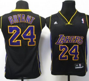 Maillot Enfant de Bryant Los Angeles Lakers #24 Noir
