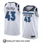 Maillot Minnesota Timberwolves Anthony Tolliver No 43 Association 2018 Blanc