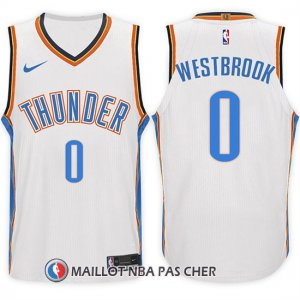 Maillot Oklahoma City Thunder Russell Westbrook 0 2017-18 Blanc