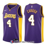 Maillot Los Angeles Lakers Alex Caruso Statehombret 4 2017-18 Volet