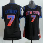 Maillot Femme de Anthony New York Knicks #7 Noir