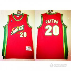Maillot Seattle Supersonics Payton #20 Rouge