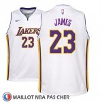 Maillot Enfant Los Angeles Lakers Lebron James No 23 Association 2017-18 Blanc