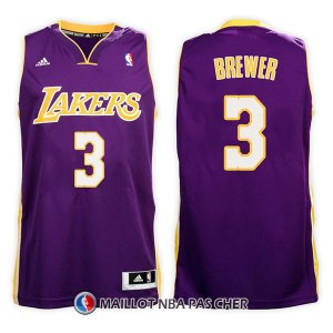Maillot Los Angeles Lakers Corey Brewer Road 3 2017-18 Volet