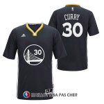 Maillot Authentique Manche Courte Golden State Warriors Curry 30 Noir