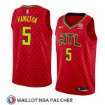 Maillot Atlanta Hawks Daniel Hamilton No 5 Statement 2018 Rouge