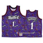 Maillot Tornto Raptors Tracy McGrady Hardwood Classics Tear Up Pack Volet
