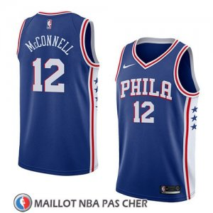 Maillot Philadelphia 76ers T.j. Mcconnell No 12 Icon 2018 Bleu