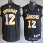 Maillot Superman Los Angeles Lakers #12 Noir