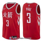 Maillot Houston Rockets Chris Paul Ciudad 3 2017-18 Rouge