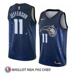 Maillot Orlando Magic Amile Jefferson No 11 Ciudad 2018 Bleu