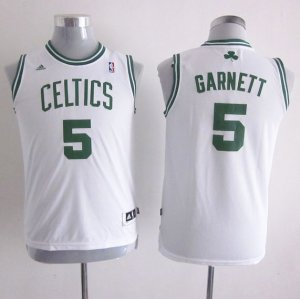 Maillot Enfant de Blanc Garnett Boston Celtics Revolution 30