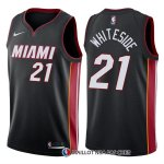 Maillot Authentique Miami Heat Whiteside 2017-18 21 Noir