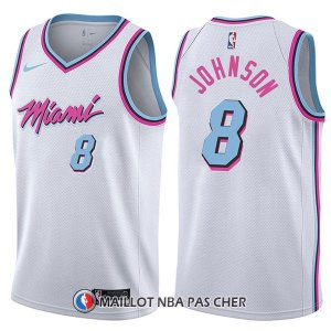 Maillot Miami Heat Tyler Johnson Ciudad 8 2017-18 Blanc