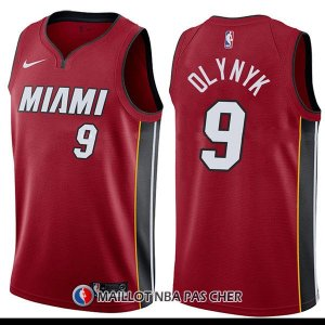 Maillot Miami Heat Kelly Olynyk Statement 9 2017-18 Rouge