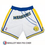 Short Golden State Warriors Just Don Classic Blanc