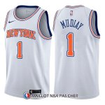 Maillot New York Knicks Emmanuel Mudiay Statement 1 2017-18 Blanc