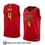 Maillot Atlanta Hawks Andrew White No 4 Statement 2018 Rouge