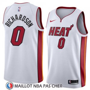 Maillot Miami Heat Josh Richardson No 0 Association 2018 Blanc