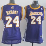 Maillot Femme de Bryant Los Angeles Lakers #24 Pourpre