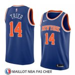 Maillot New York Knicks Allonzo Trier No 14 Icon 2018 Bleu