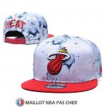 Casquette Miami Heat 9FIFTY Snapback Blanc Rouge