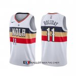 Maillot New Orleans Pelicans Jrue Holiday Earned Blanc