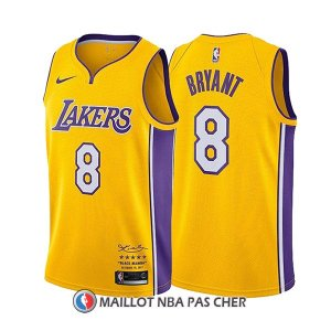 Maillot Los Angeles Lakers Kobe Bryant Retirement 8 2017-18 Or