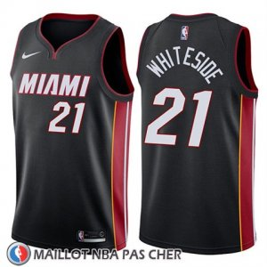 Maillot Miami Heat Hassan Whiteside No 21 Icon 2018 Noir