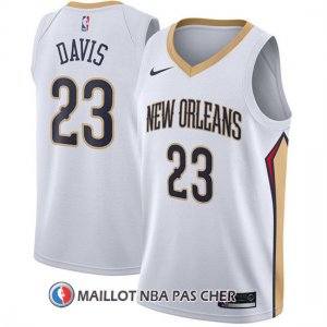Maillot New Orleans Pelicans Anthony Davis Association 2017-18 23 Blanc