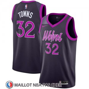 Maillot Minnesota Timberwolves Karl-anthony Towns No 32 Ciudad 2018-19 Volet