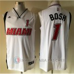Maillot Blanc Bosh Miami Version Heat Revolution 30