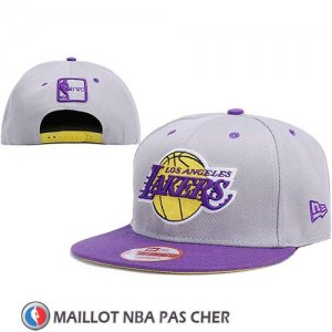 Casquette Los Angeles Lakers Snapback Gris Volet