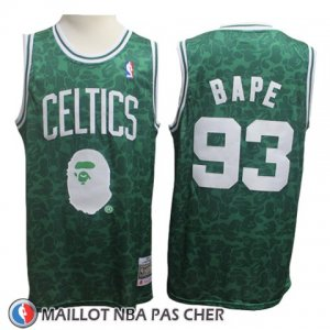 Maillot Boston Celtics Bape No 93 Hardwood Classic Vert