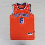 Maillot Smith New York Knicks #8 Orange y Bleu