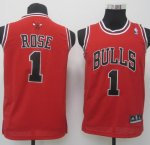 Maillot Enfant de Rose Chicago Bulls #1 Rouge