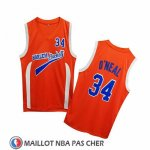 Maillot Uncle Drew Shaquille O'neal No 34 Harlem Buckets Orange