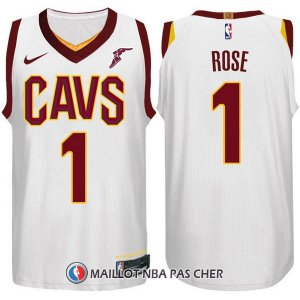 Nike Maillot Cleveland Cavaliers Rose 1 2017-18 Blanc